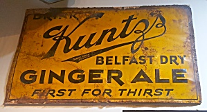 Ginger Ale Sign Kuntz's