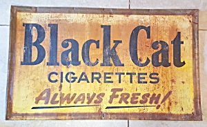 BLACK CAT TOBACCO SIGN (Image1)