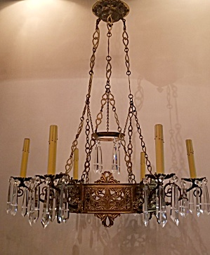 Formal Crystal/brass Fixture