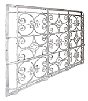 ARCHITECTURAL ANTIQUE LARGE WINDOW GRILLE (Image1)