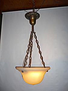 HEAVY CAST GLASS BOWL LIGHT FIXTURE (Image1)
