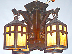 ARTS AND CRAFTS MONK'S HEAD LIGHT FIXTURE (Image1)