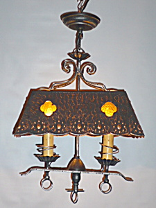 VINTAGE Arts and Crafts LIGHT fixture (Image1)