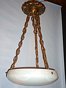 CALCITE HANGING BOWL LIGHT FIXTURE (Image1)