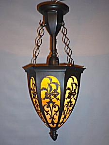 PIERCED BRASS PENDANT LIGHT (Image1)