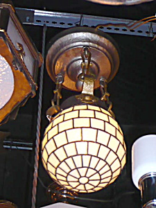 ARTS AND CRAFTS HALL PENDANT LIGHT FIXTURE (Image1)