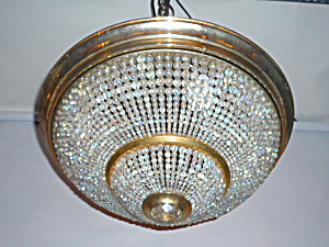 ANTIQUE LIGHTING   BEADED FLUSH MOUNT (Image1)