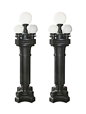 Old cast iron lamp posts