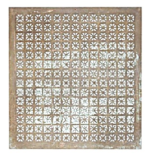 Cast Brass Architectural Antique Grille
