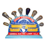 Click to view larger image of  VINTAGE GE BULB STORE DISPLAY MAZDA (Image1)