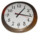 Click to view larger image of LARGE VINTAGE BRONZE WALL CLOCK (Image2)