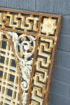Click to view larger image of ANTIQUE CAST IRON GRILLE METAL GRATE 1930s (Image2)