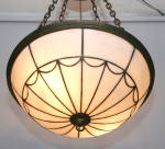 Click to view larger image of ANTIQUE LEADED GLASS BOWL LIGHT (Image2)