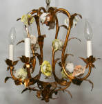 Click to view larger image of VINTAGE FRENCH COUNTRY ANTIQUE CHANDELIER (Image2)
