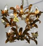 Click to view larger image of VINTAGE FRENCH COUNTRY ANTIQUE CHANDELIER (Image3)