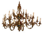 HUGE ANTIQUE BRASS CHANDELIER