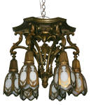 ANTIQUE CAST BRONZE CEILING FIXTURE