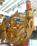 Click to view larger image of Huge brass ornate pendant light fixture (Image2)