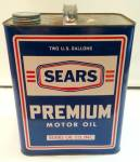 Click here to enlarge image and see more about item 215051625: OLD SEARS OIL CAN