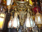 Arts and crafts flush mount light fixture