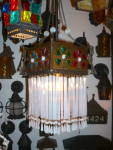 ANTIQUE ART GLASS ANTIQUE PENDANT LIGHT