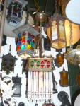 Click to view larger image of ANTIQUE ART GLASS ANTIQUE PENDANT LIGHT (Image3)