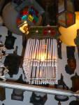 Click to view larger image of ANTIQUE ART GLASS ANTIQUE PENDANT LIGHT (Image4)