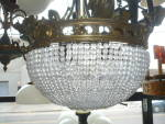 BEADED ANTIQUE LIGHT FIXTURE