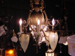 Click here to enlarge image and see more about item fix22111: gas/electric chandelier