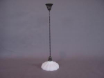 Pendant light with Sheffield style glass