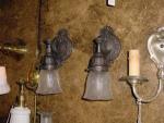 wall sconce...darkened patina...1 pair