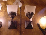 mission stlye sconces..darkened patina...price is for one....more available