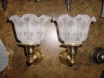 pair wall sconces