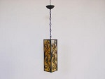Click to view larger image of VINTAGE hanging pendant LIGHT (Image2)