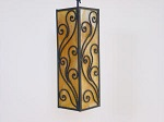 Click to view larger image of VINTAGE hanging pendant LIGHT (Image3)