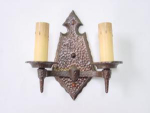 Click here to enlarge image and see more about item fix8859: arts/crafts sconces