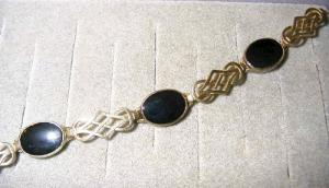 Sterling Bracelet With Onyx Stones