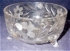 Pattern Glass Etched Bowl (Image1)