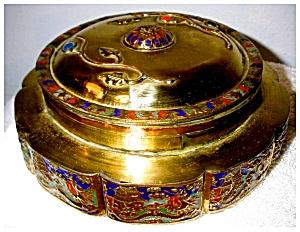 Antique Brass Enameled Box (Image1)