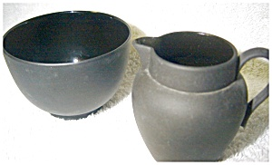 Cream And Sugar Wedgwood Black Basalt