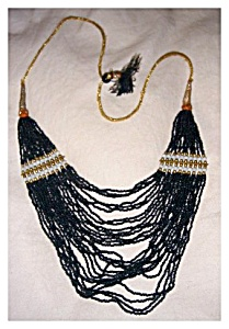 Necklace with Multi Strand Beads (Image1)