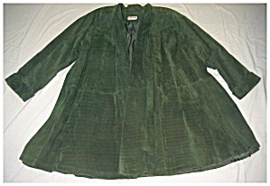 Swing Coat In Green Suede