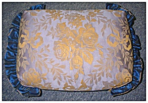 Pillow In Blue Damask