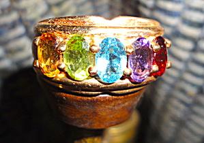 Five Stone Gemstone Ring (Image1)