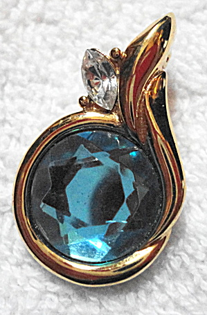 Kenneth J  Lane Blue Topaz Pendant (Image1)