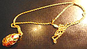 Joan Rivers Multi Stone Egg Pendant on Chain (Image1)