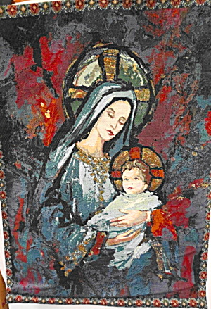 Tapestry Wall Hanging Madonna and Child (Image1)