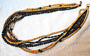 Wooden Bead Six Strand Necklace (Image1)