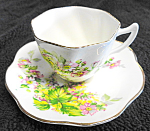 Crownford China Cup And Saucer