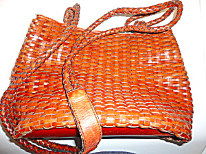 Talbot's Leather Woven Bag (Image1)